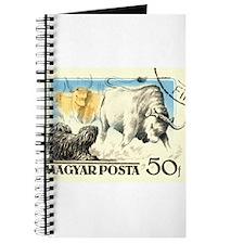 Vintage 1956 Hungary Puli Dog Postage Stamp Journa