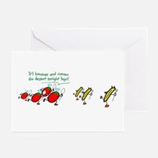 Bananas on the Run Greeting Cards (Pk of 10)