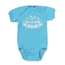 Glacier Mountain Emblem Black Baby Bodysuit