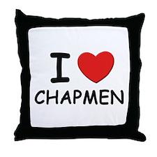 I love chapmen Throw Pillow