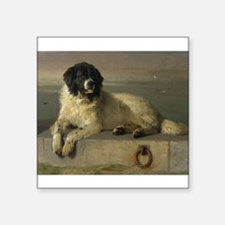Newfoundland-Landseer Resting by the Shore Sticker