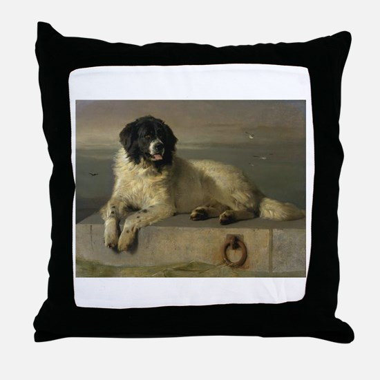 Newfoundland-Landseer Resting by the Shore Throw P
