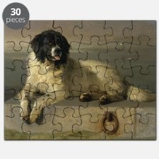 Newfoundland-Landseer Resting by the Shore Puzzle