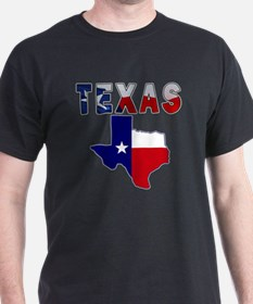 Flag Map With Texas T-Shirt