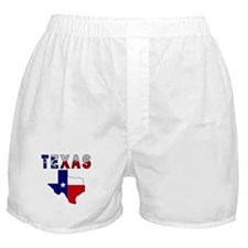 Flag Map With Texas Boxer Shorts