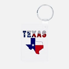 Flag Map With Texas Keychains