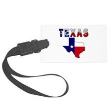 Flag Map With Texas Luggage Tag