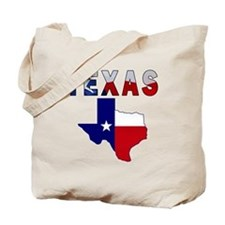 Flag Map With Texas Tote Bag