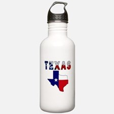 Flag Map With Texas Water Bottle