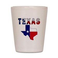 Flag Map With Texas Shot Glass