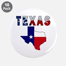 "Flag Map With Texas 3.5"" Button (10 pack)"