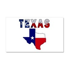 Flag Map With Texas Car Magnet 20 x 12