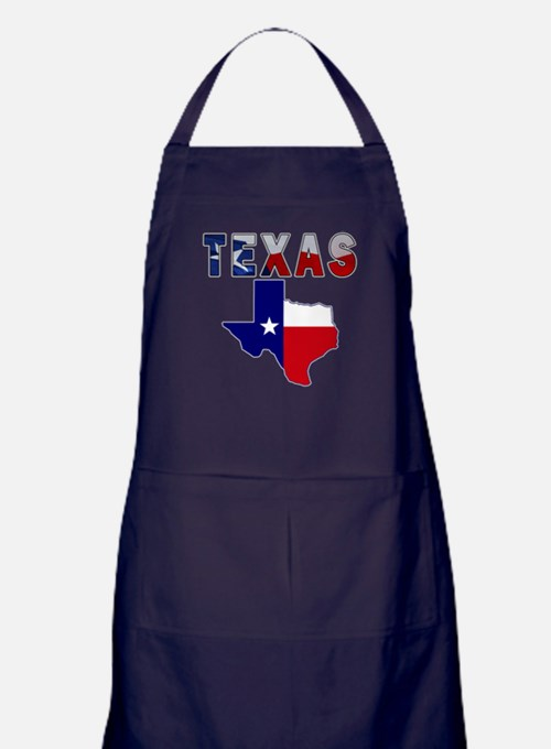 Flag Map With Texas Apron (dark)