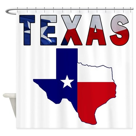 Flag Map With Texas Shower Curtain By Texasheritage