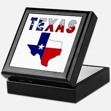 Flag Map With Texas Keepsake Box