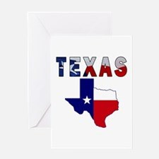 Flag Map With Texas Greeting Card