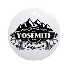 Yosemite Mountain Emblem Ornament (Round)