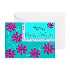 HAPPY NURSES WEEK BLUE 1 Greeting Cards (Pk of 10)