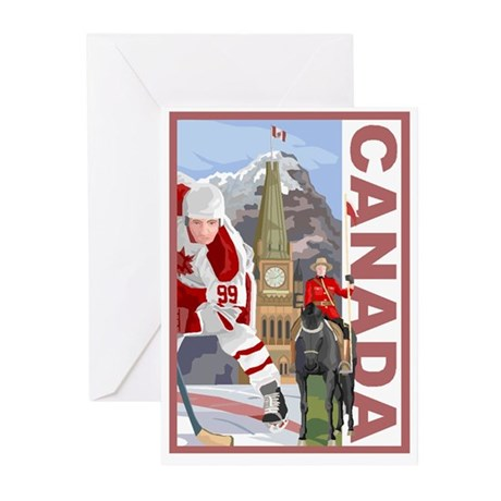 Canada Greeting Cards Pk Of 10 By Uniktees