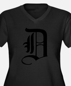Gothic Initial D Women's Plus Size V-Neck Dark T-S