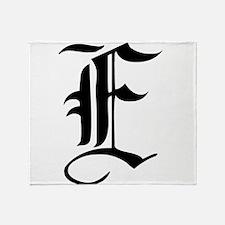 Gothic Initial E Throw Blanket