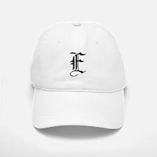 Gothic Initial E Baseball Baseball Cap