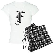 Gothic Initial F Pajamas