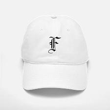 Gothic Initial F Baseball Baseball Cap