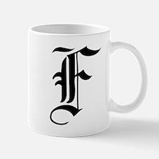 Gothic Initial F Mug