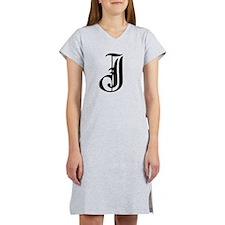 Gothic Initial J Women's Nightshirt