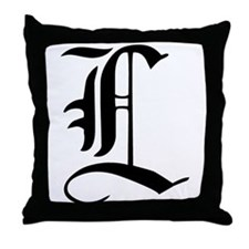 Gothic Initial L Throw Pillow