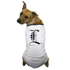 Gothic Initial L Dog T-Shirt