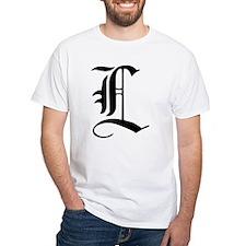 Gothic Initial L Shirt