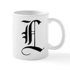 Gothic Initial L Mug