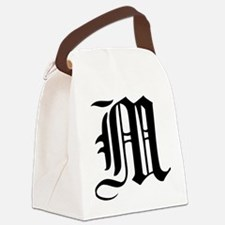 Gothic Initial M Canvas Lunch Bag