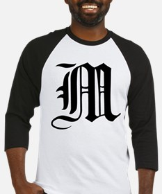 Gothic Initial M Baseball Jersey