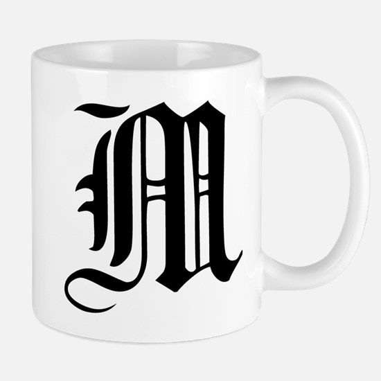 Gothic Initial M Mug