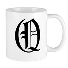 Gothic Initial Q Mug