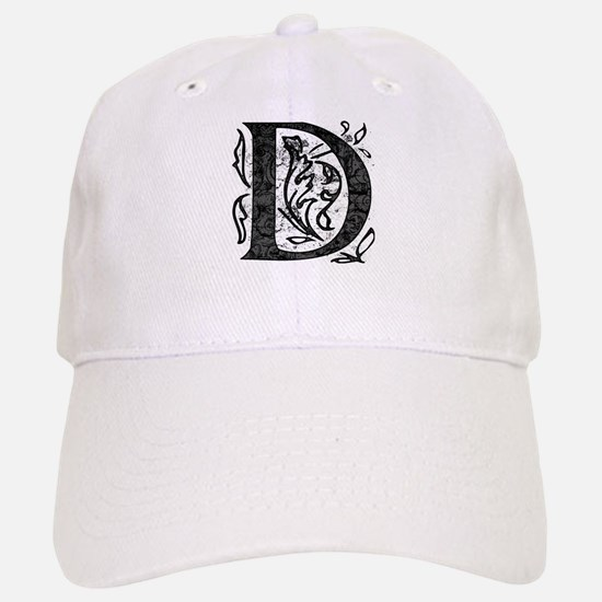 Fancy Monogram D Baseball Baseball Cap