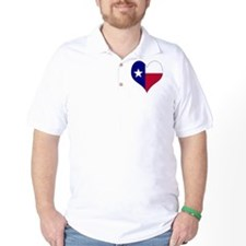 I Love Texas Flag Heart T-Shirt