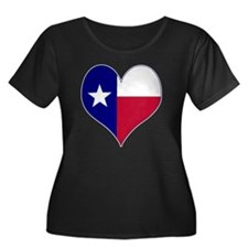 I Love Texas Flag Heart T