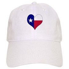 I Love Texas Flag Heart Baseball Cap