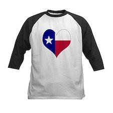 I Love Texas Flag Heart Tee