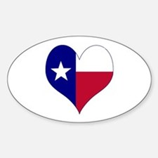 I Love Texas Flag Heart Decal