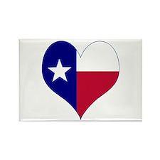 I Love Texas Flag Heart Rectangle Magnet