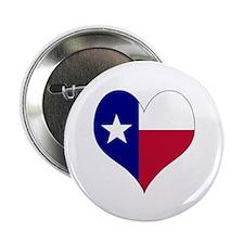 "I Love Texas Flag Heart 2.25"" Button"
