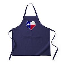 I Love Texas Flag Heart Apron (dark)