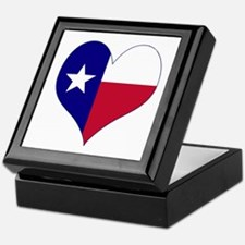 I Love Texas Flag Heart Keepsake Box