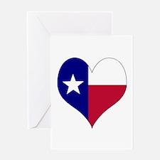 I Love Texas Flag Heart Greeting Card