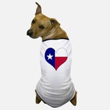 I Love Texas Flag Heart Dog T-Shirt